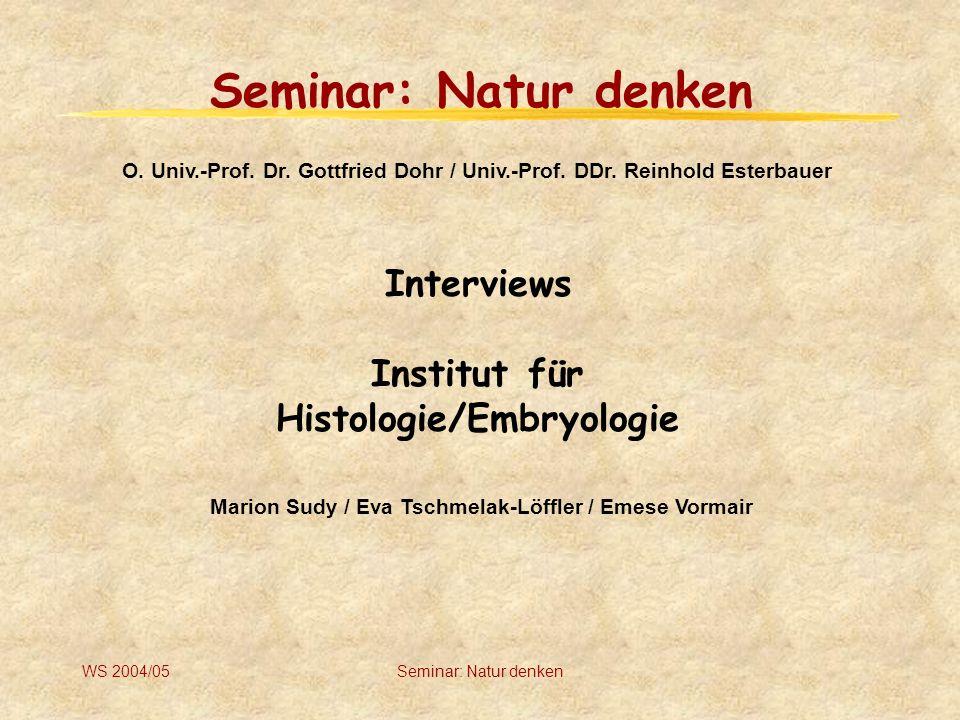 Histologie/Embryologie