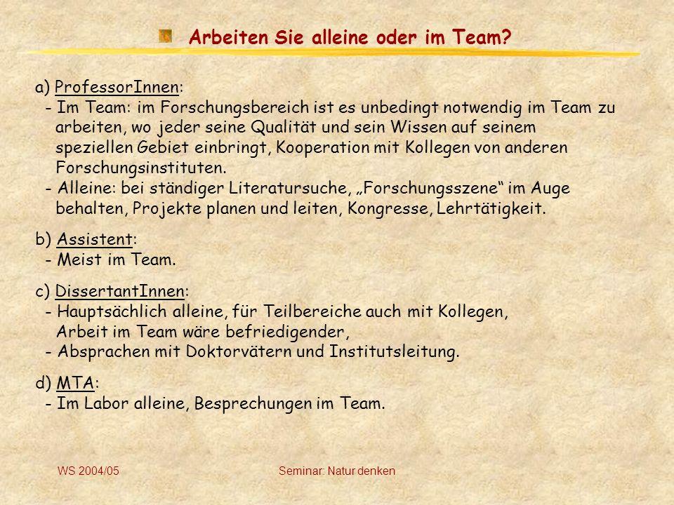 Arbeiten Sie alleine oder im Team