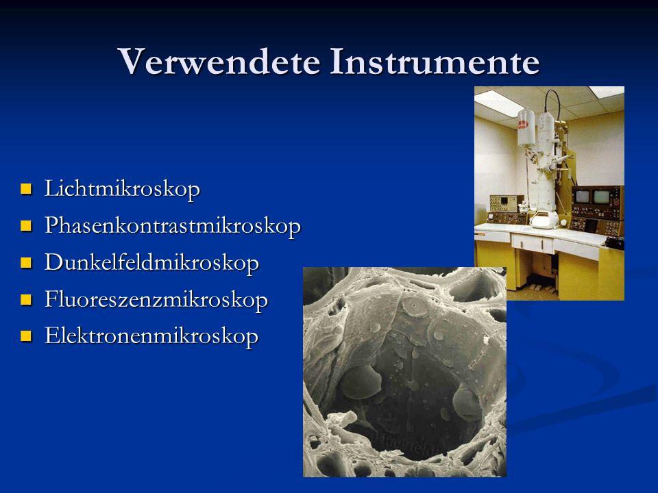 Verwendete Instrumente