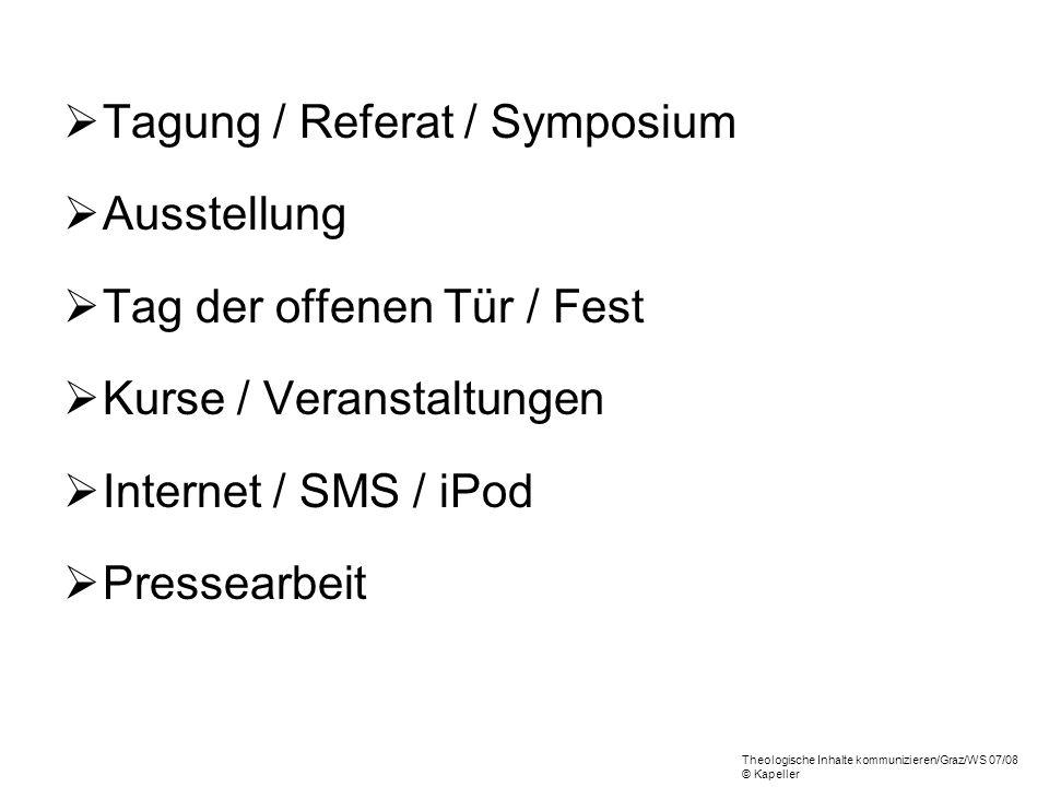 Tagung / Referat / Symposium Ausstellung Tag der offenen Tür / Fest