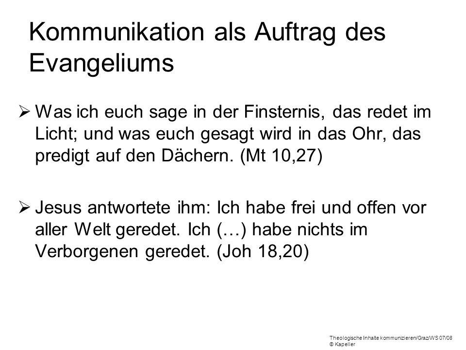Kommunikation als Auftrag des Evangeliums