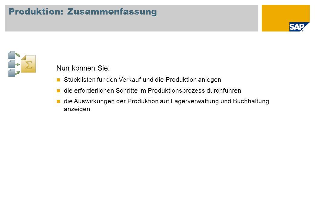 Produktion: Zusammenfassung