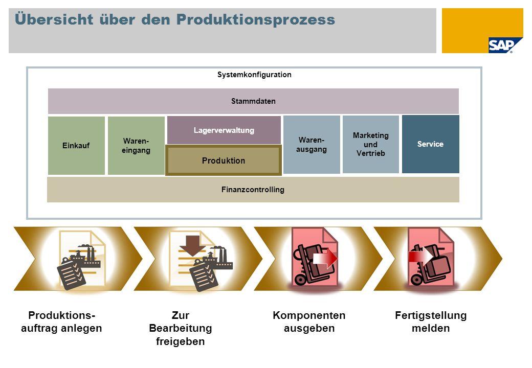 Übersicht über den Produktionsprozess