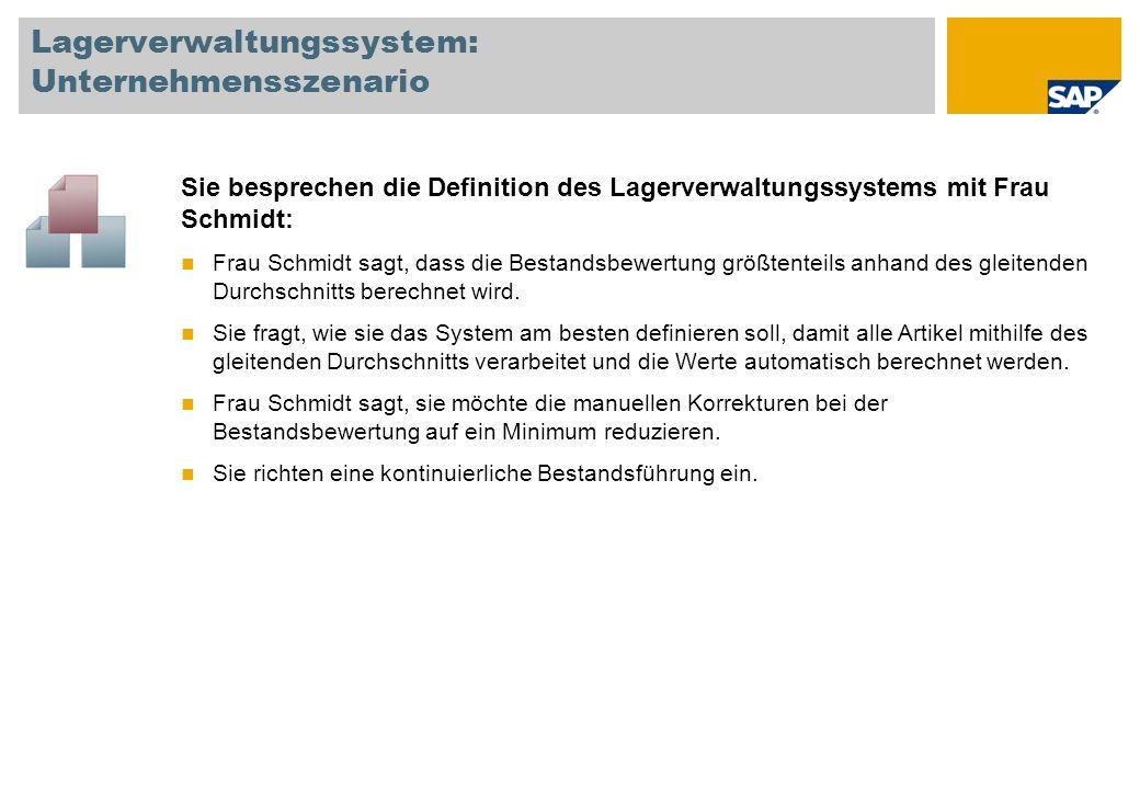 Lagerverwaltungssystem: Unternehmensszenario