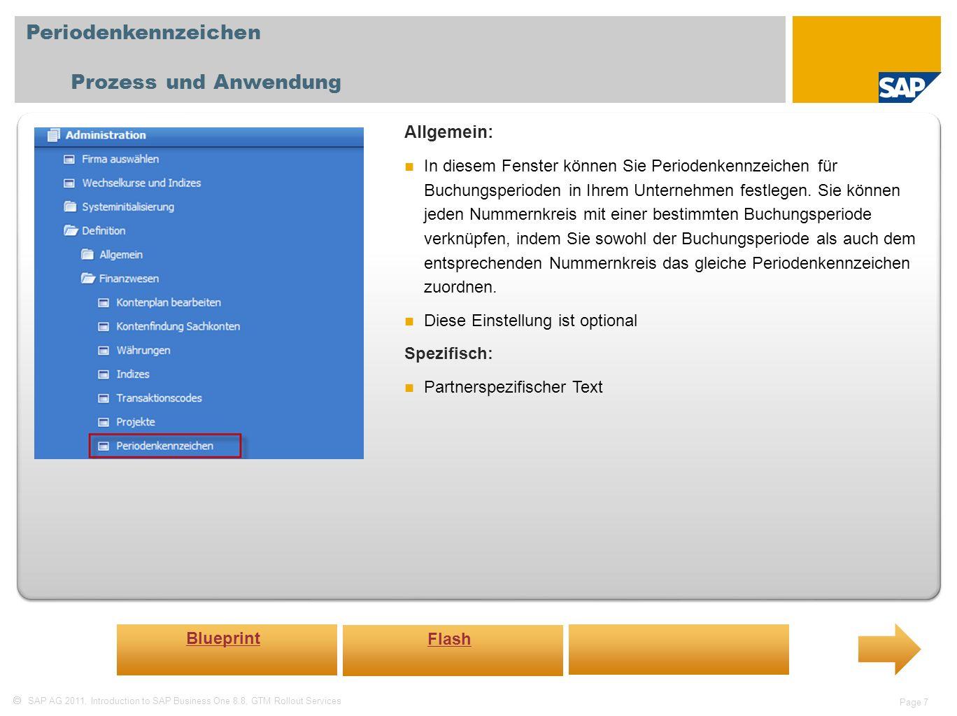Periodenkennzeichen Prozess und Anwendung Allgemein: