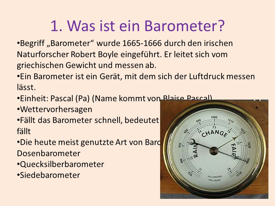 das barometer ppt video online herunterladen. Black Bedroom Furniture Sets. Home Design Ideas