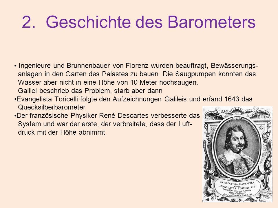 2. Geschichte des Barometers