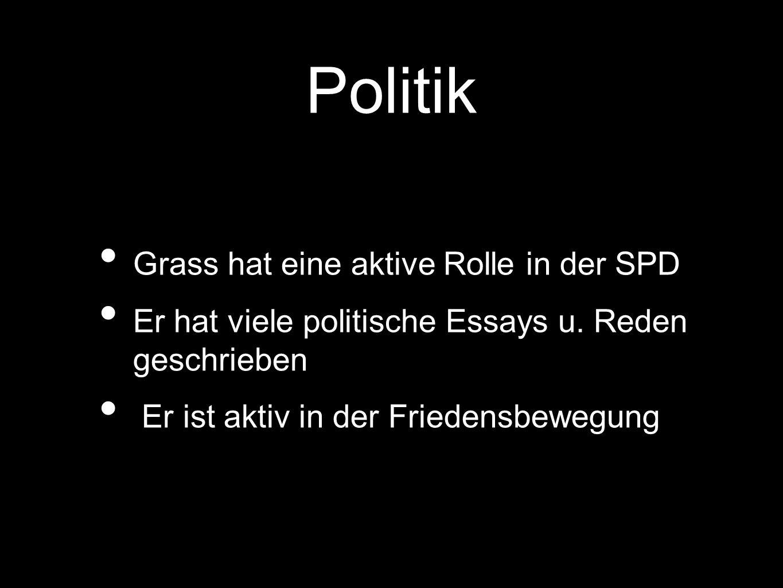 Politik Grass hat eine aktive Rolle in der SPD