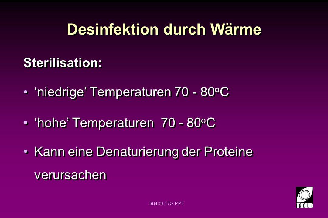 Desinfektion durch Wärme
