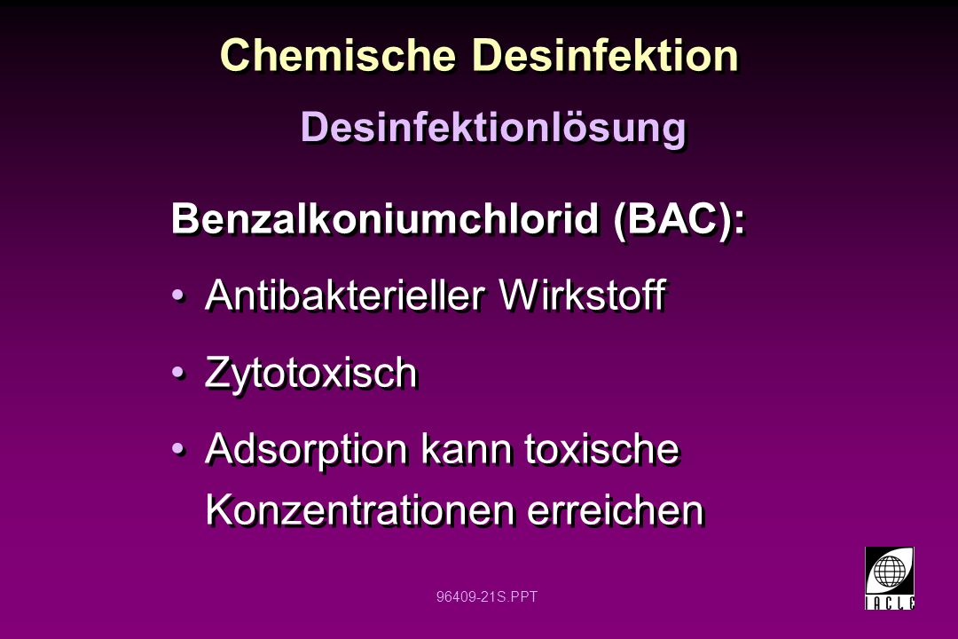 Chemische Desinfektion