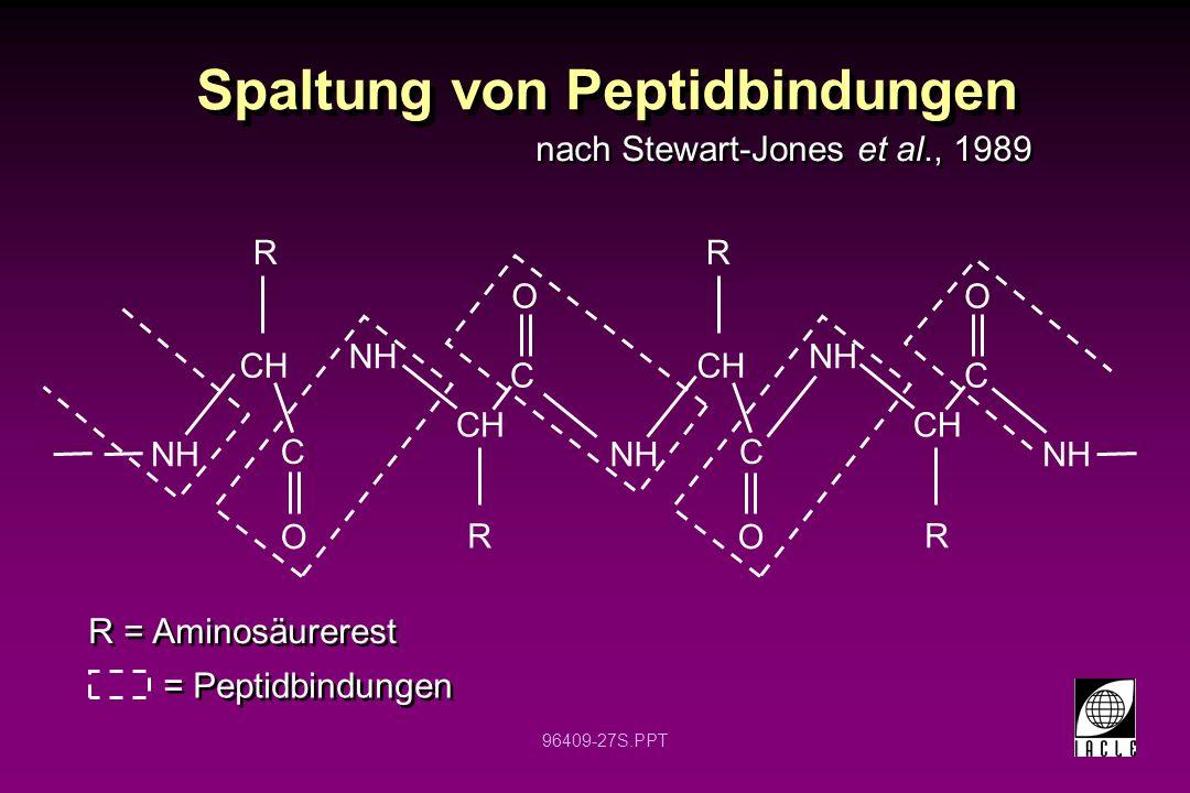 Spaltung von Peptidbindungen