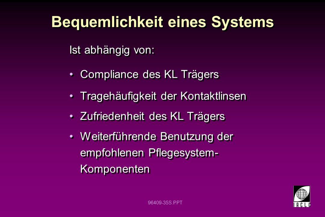 Bequemlichkeit eines Systems