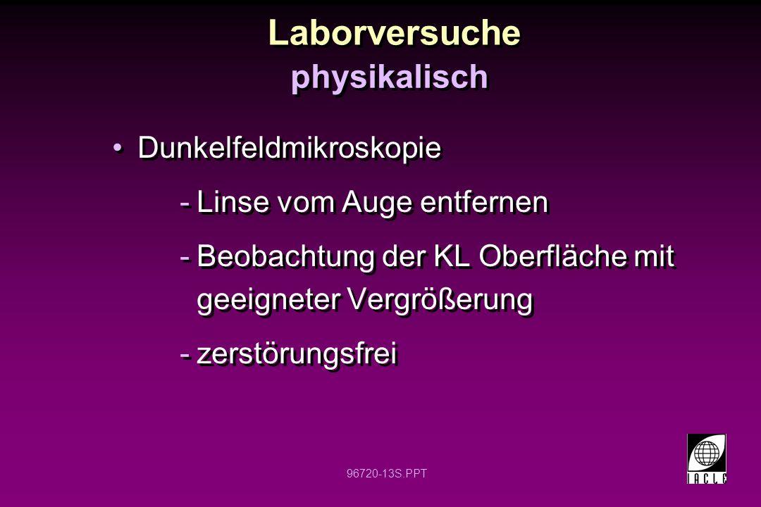 Laborversuche physikalisch Dunkelfeldmikroskopie