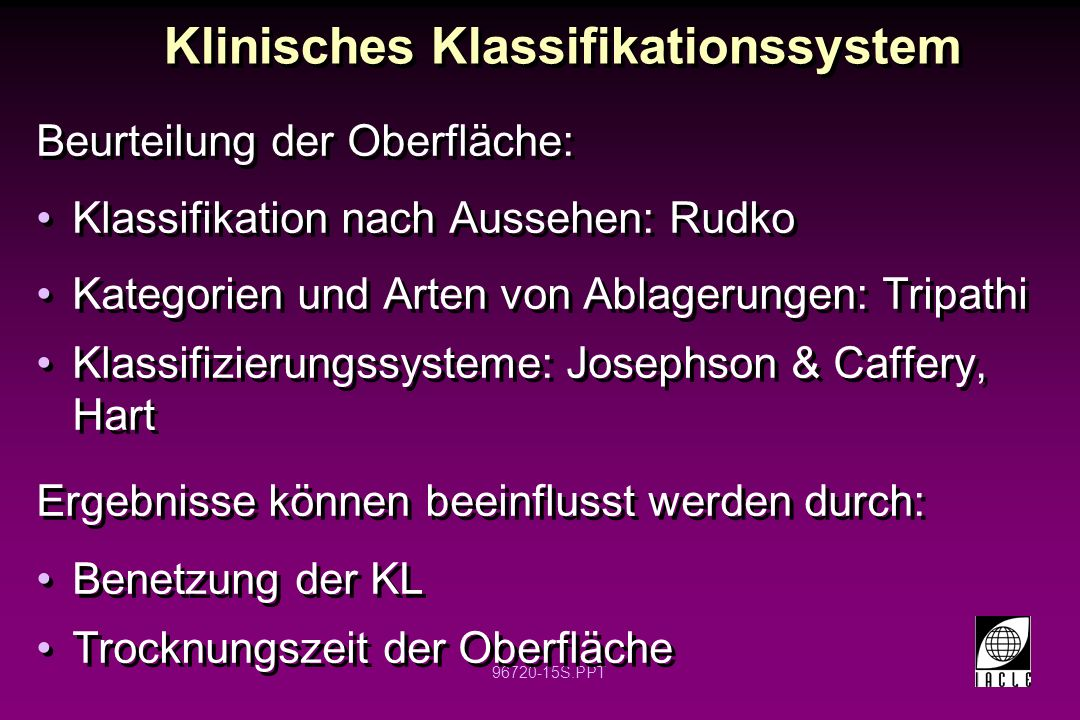 Klinisches Klassifikationssystem