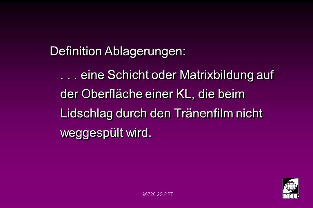 Definition Ablagerungen: