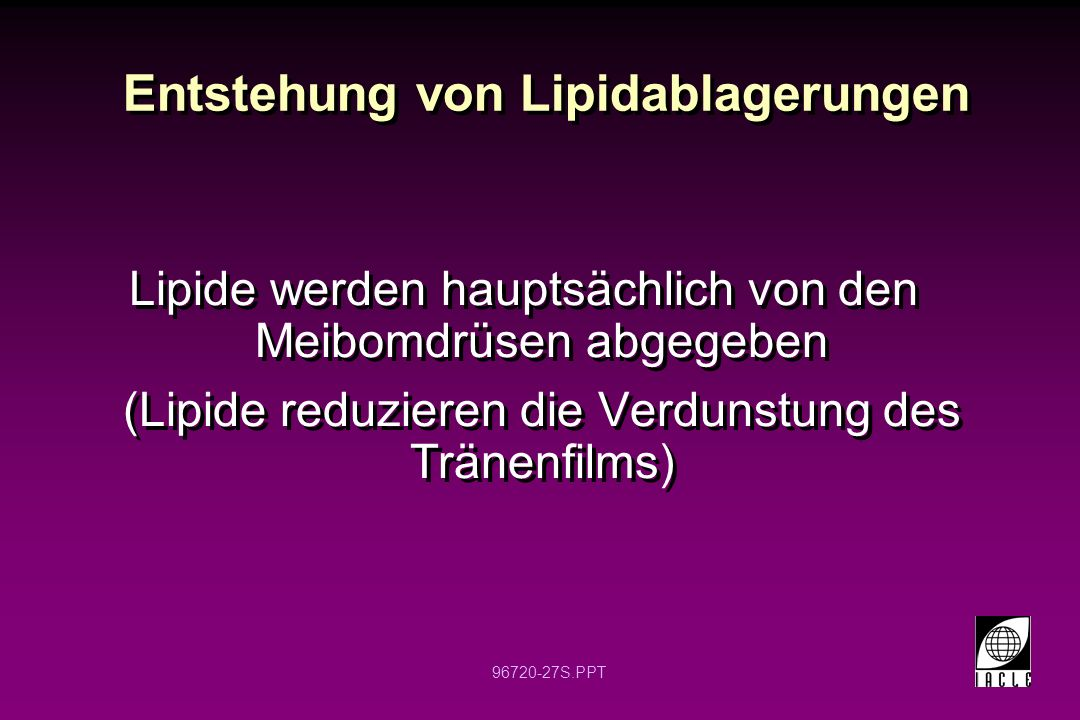 Entstehung von Lipidablagerungen