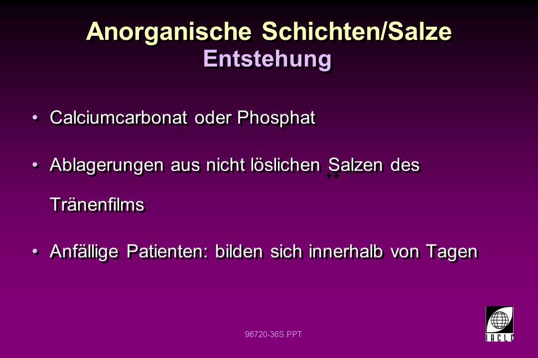 Anorganische Schichten/Salze