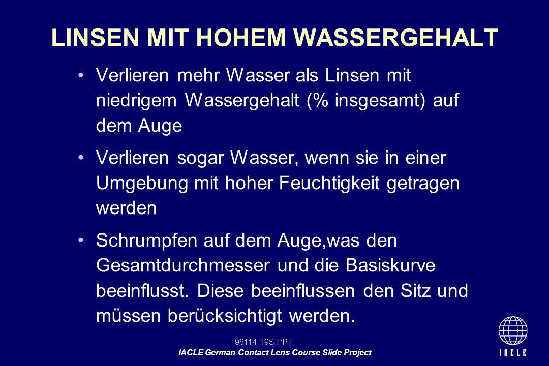 LINSEN MIT HOHEM WASSERGEHALT