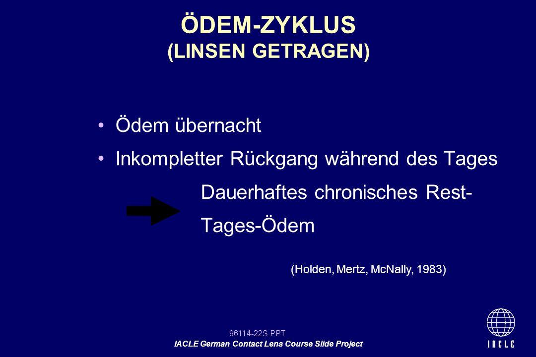 ÖDEM-ZYKLUS (LINSEN GETRAGEN)