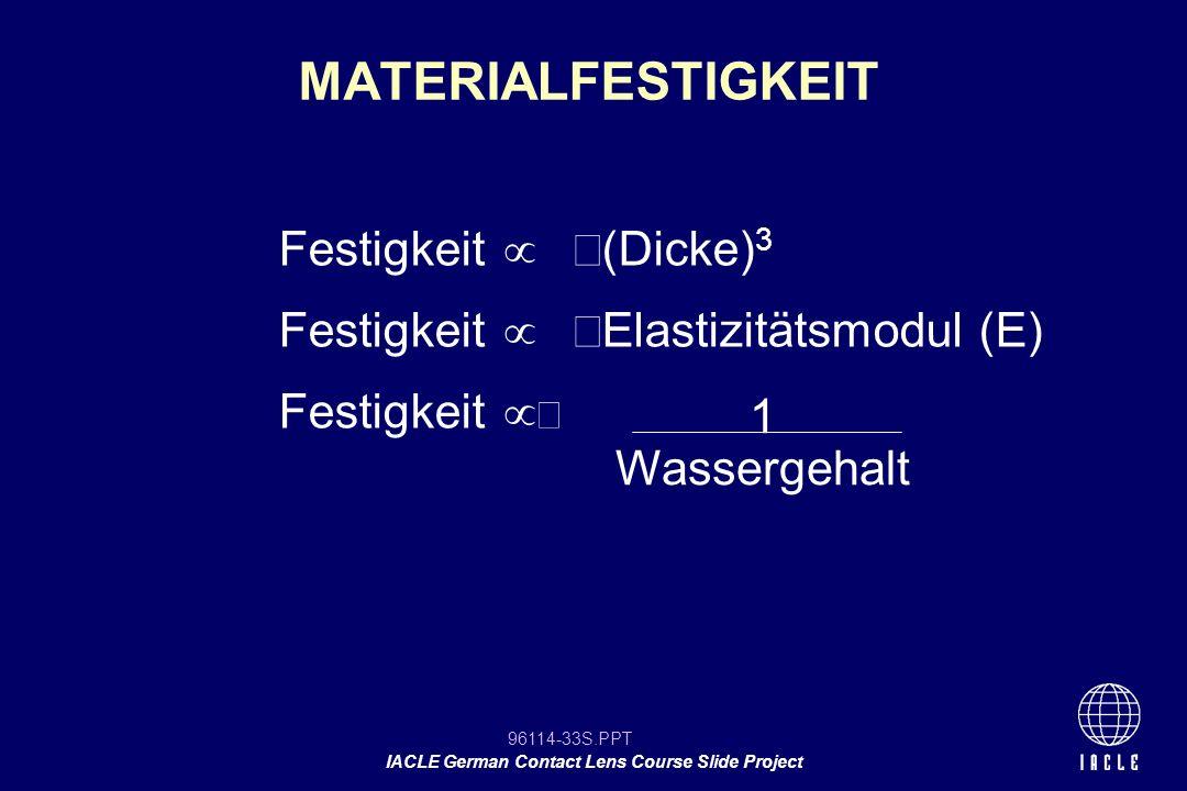 MATERIALFESTIGKEIT Festigkeit  (Dicke)3