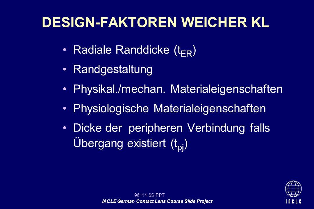 DESIGN-FAKTOREN WEICHER KL