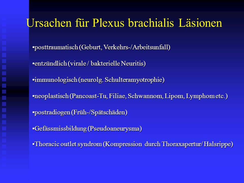 Ursachen für Plexus brachialis Läsionen