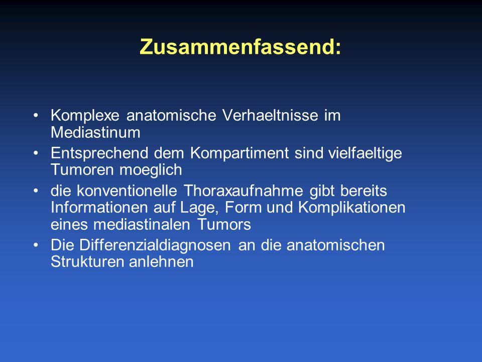 Zusammenfassend: Komplexe anatomische Verhaeltnisse im Mediastinum