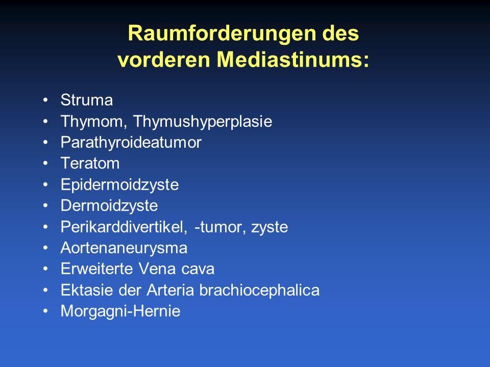 vorderen Mediastinums: