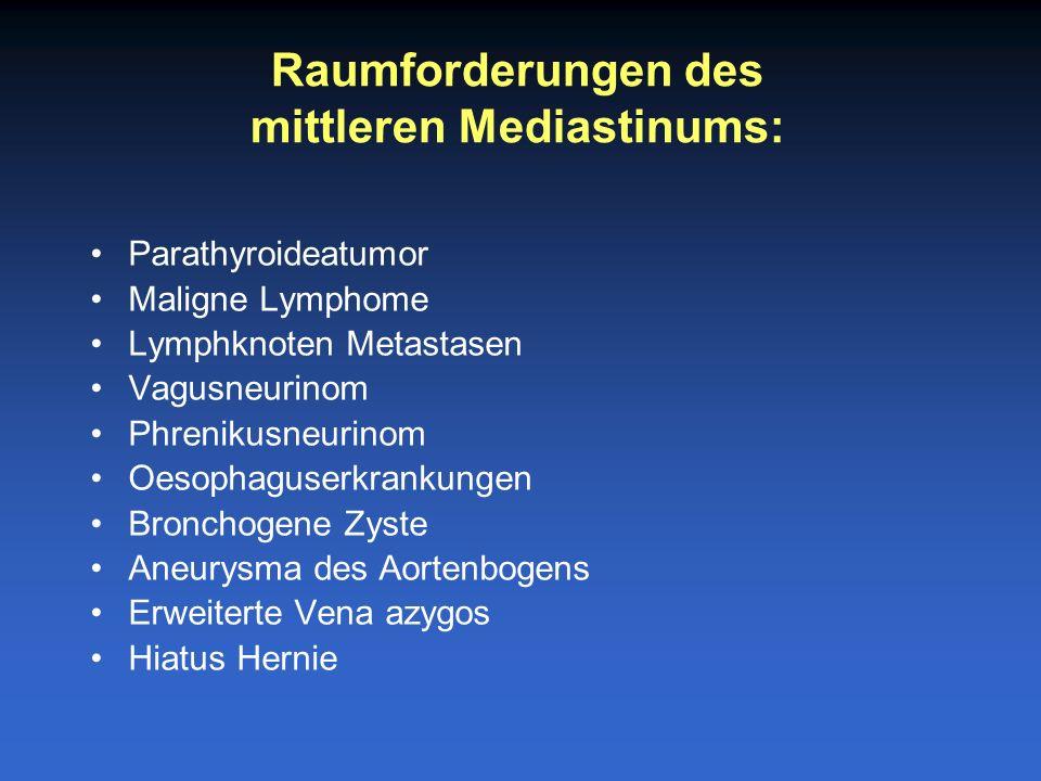 mittleren Mediastinums: