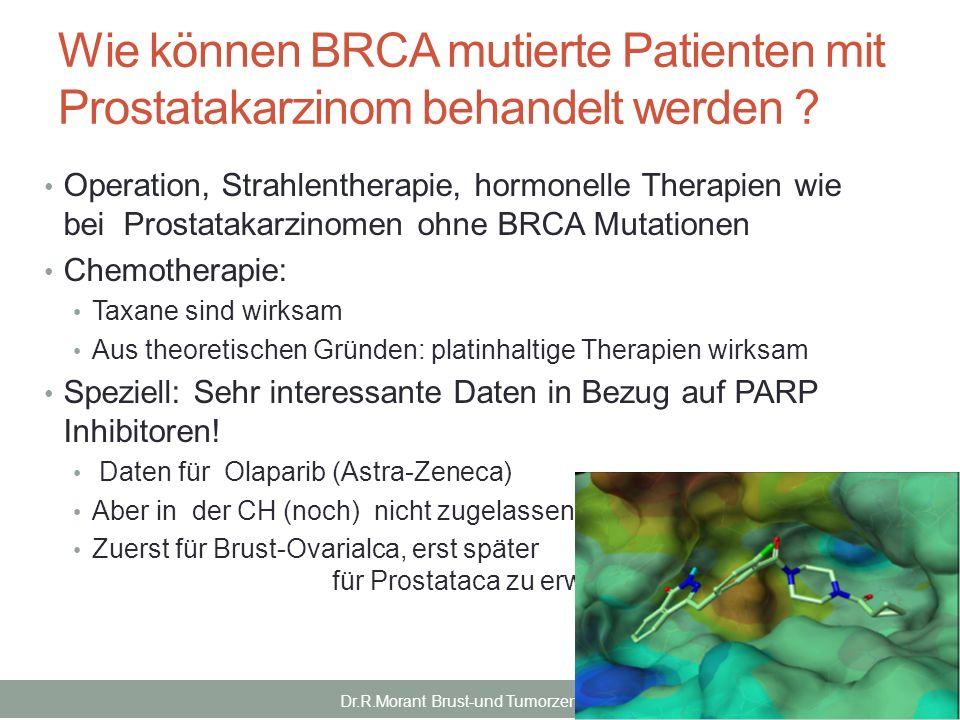 Wie können BRCA mutierte Patienten mit Prostatakarzinom behandelt werden