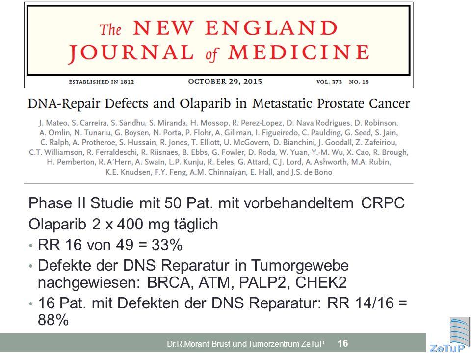 Phase II Studie mit 50 Pat. mit vorbehandeltem CRPC