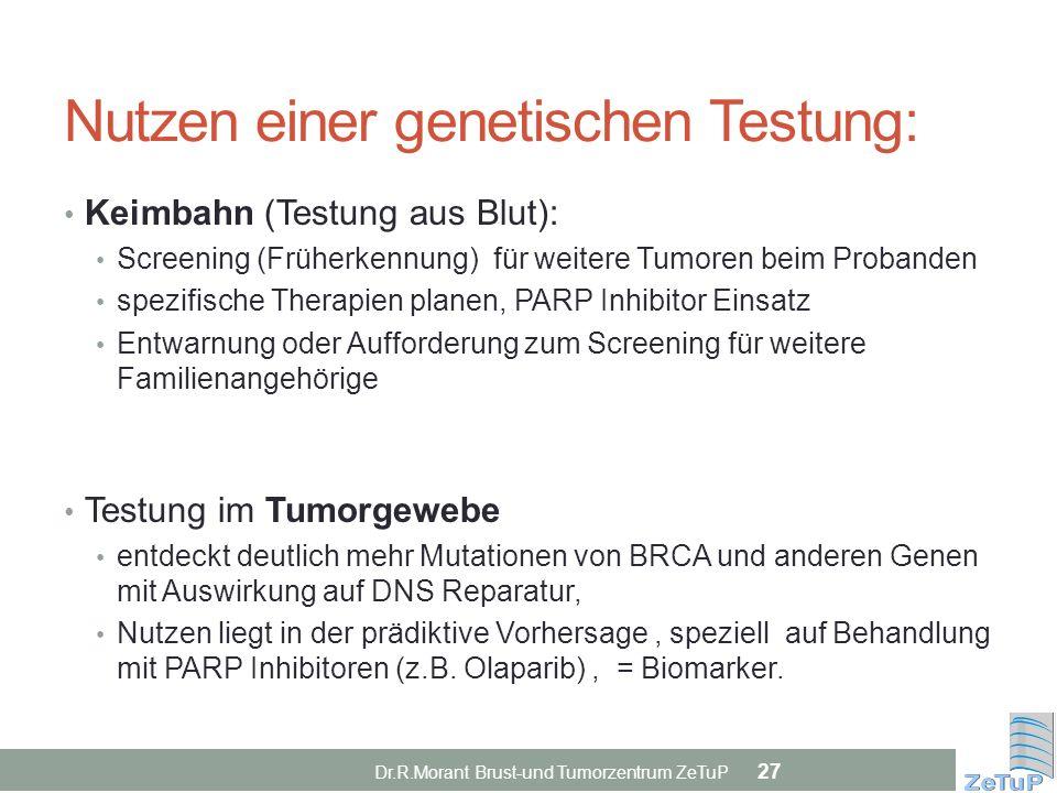 Nutzen einer genetischen Testung: