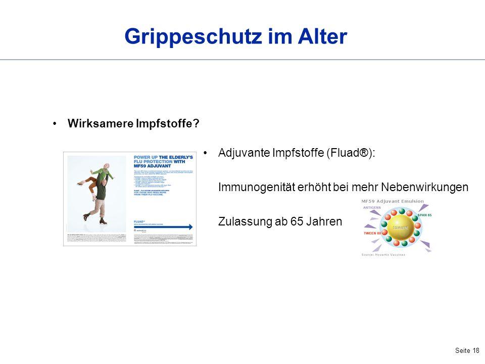 Grippeschutz im Alter Wirksamere Impfstoffe