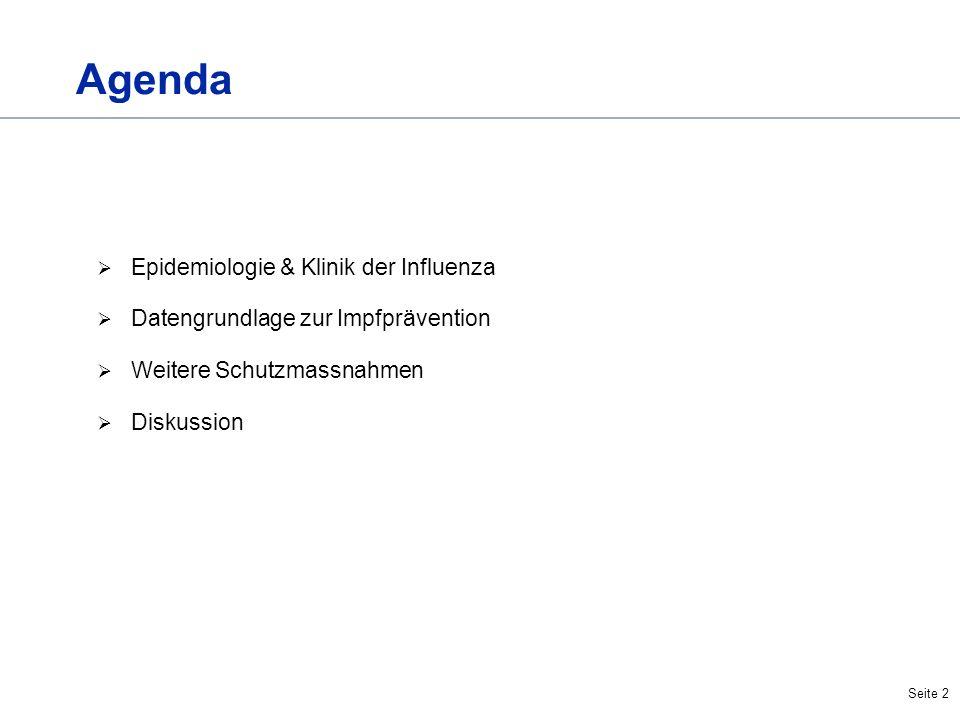 Agenda Epidemiologie & Klinik der Influenza