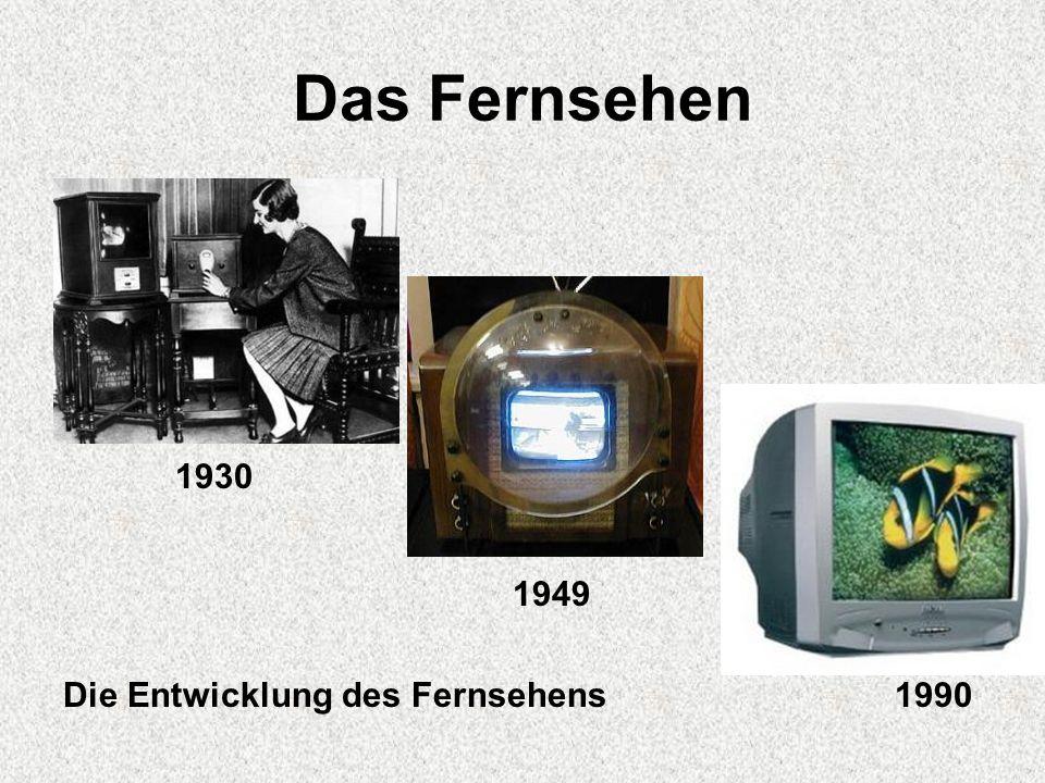 Das Fernsehen 1930 1949 Die Entwicklung des Fernsehens 1990
