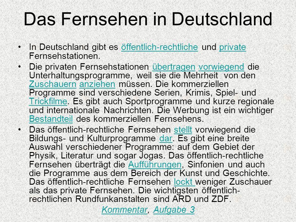 Das Fernsehen in Deutschland