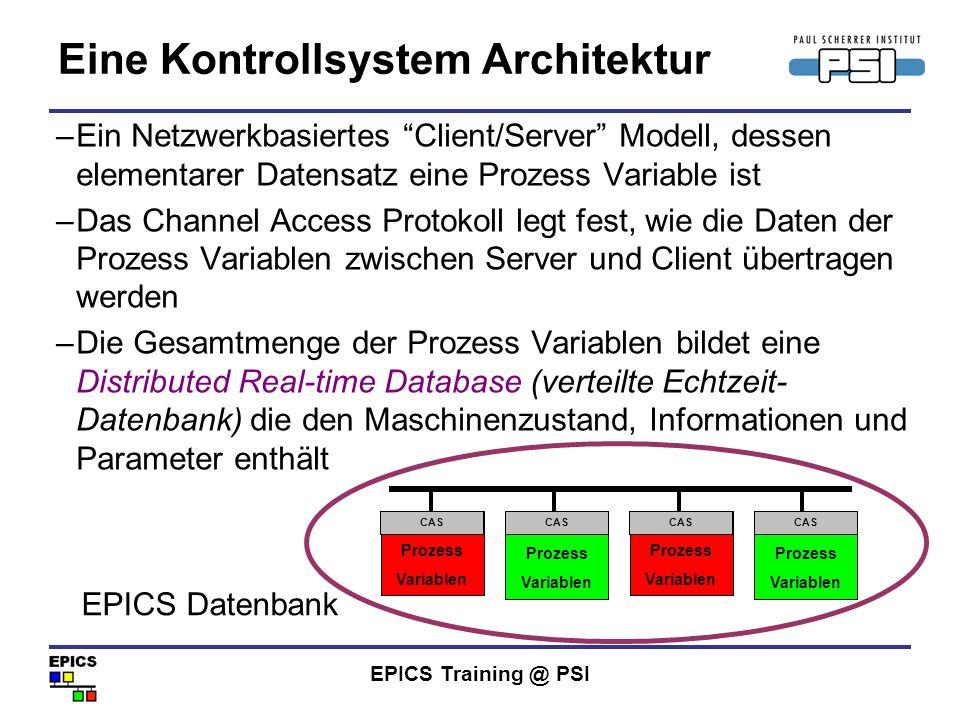 Eine Kontrollsystem Architektur