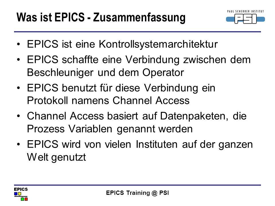 Was ist EPICS - Zusammenfassung