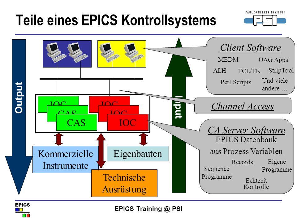 Teile eines EPICS Kontrollsystems