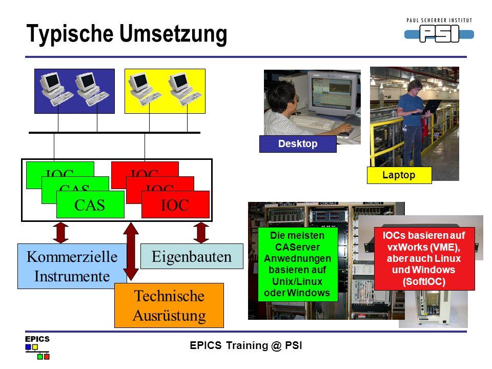 Typische Umsetzung Kommerzielle Instrumente IOC CAS Eigenbauten