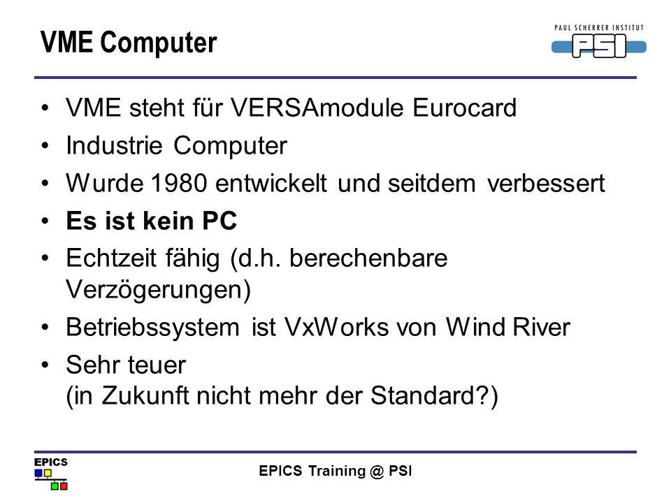 VME Computer VME steht für VERSAmodule Eurocard Industrie Computer