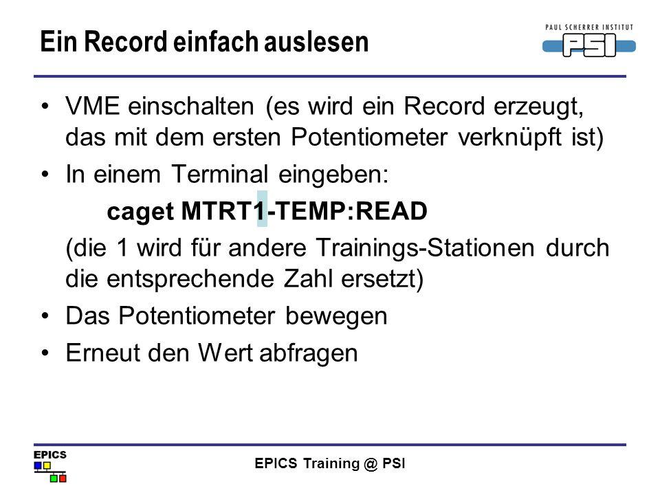 Ein Record einfach auslesen