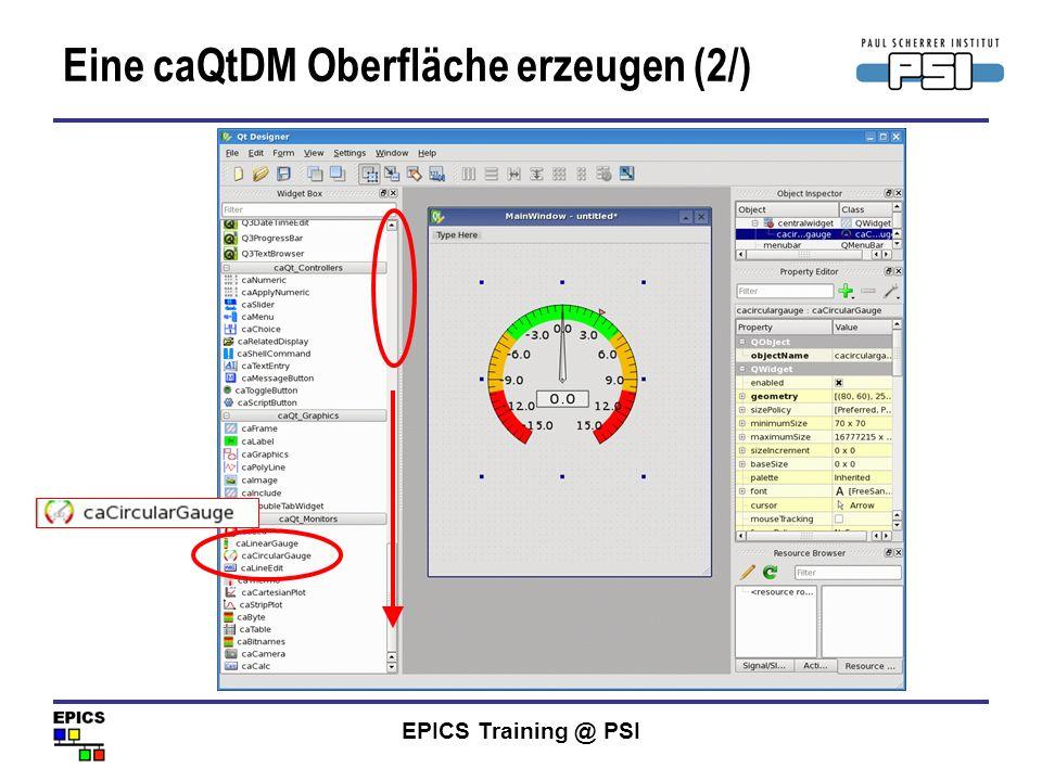 Eine caQtDM Oberfläche erzeugen (2/)