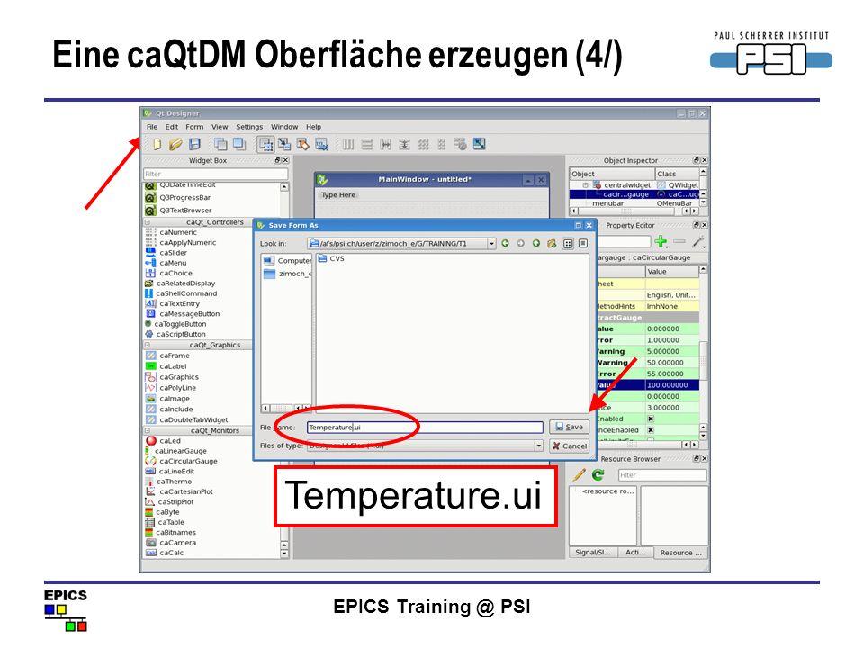 Eine caQtDM Oberfläche erzeugen (4/)