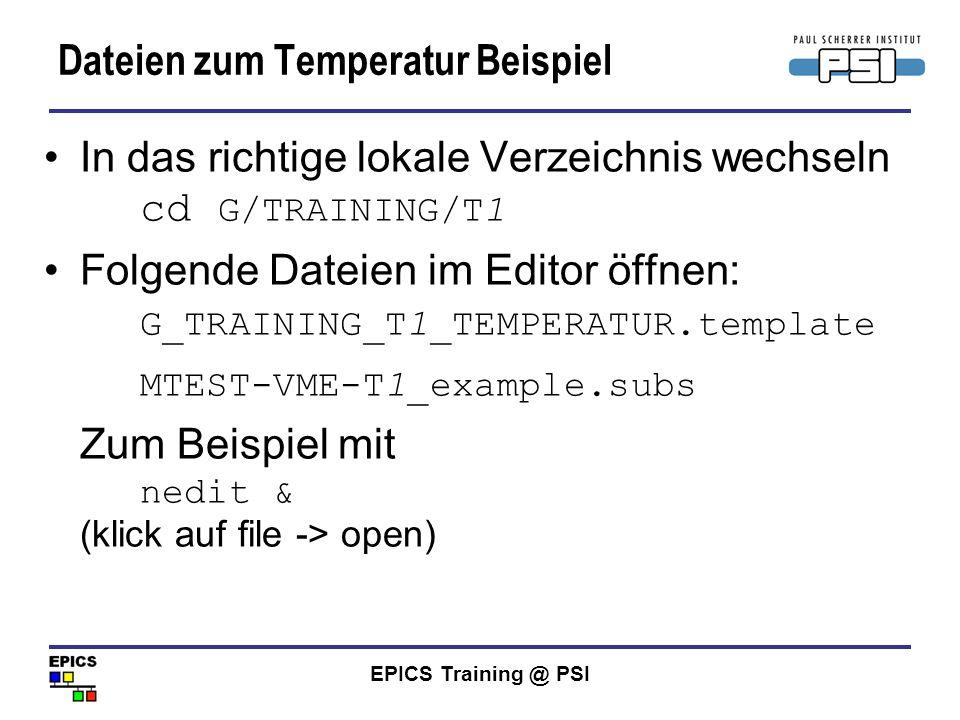 Dateien zum Temperatur Beispiel