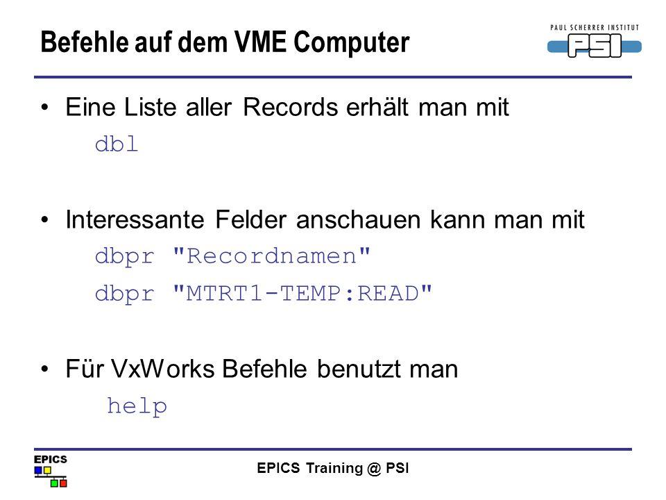 Befehle auf dem VME Computer