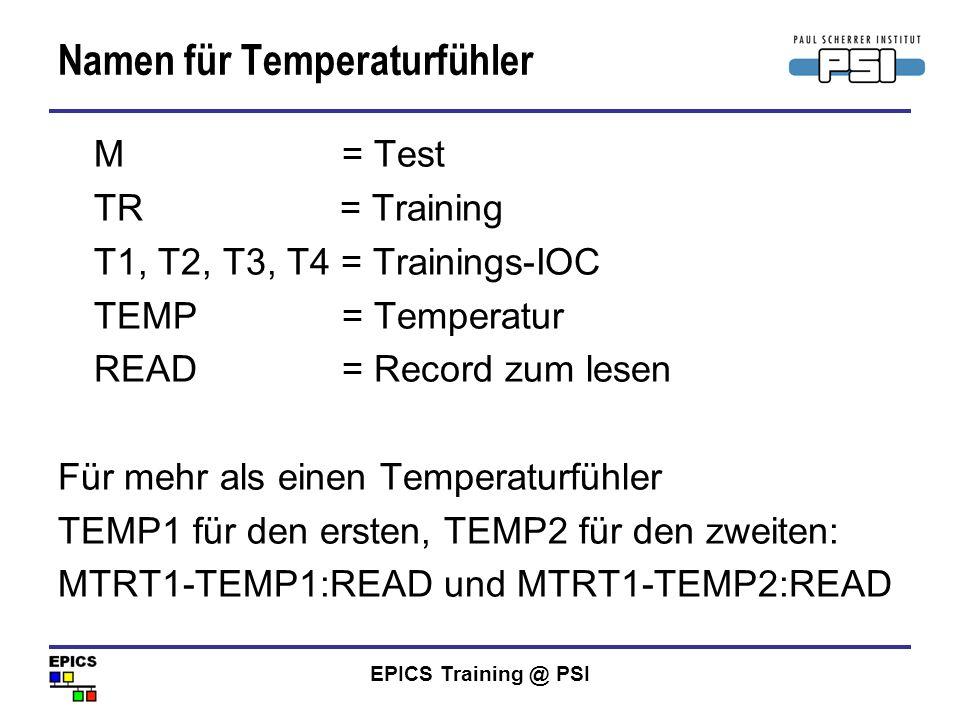 Namen für Temperaturfühler