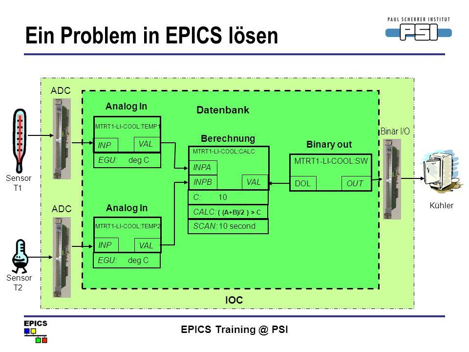 Ein Problem in EPICS lösen