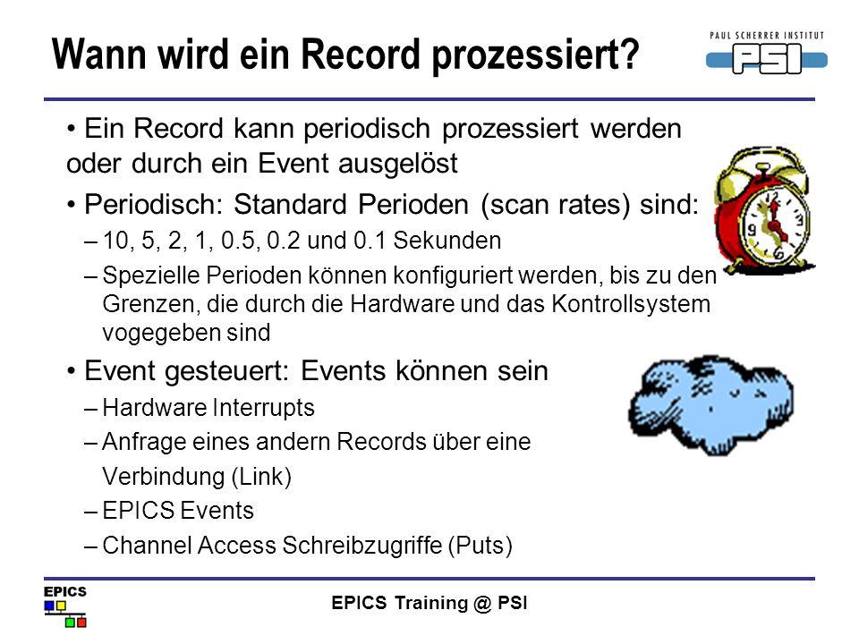 Wann wird ein Record prozessiert