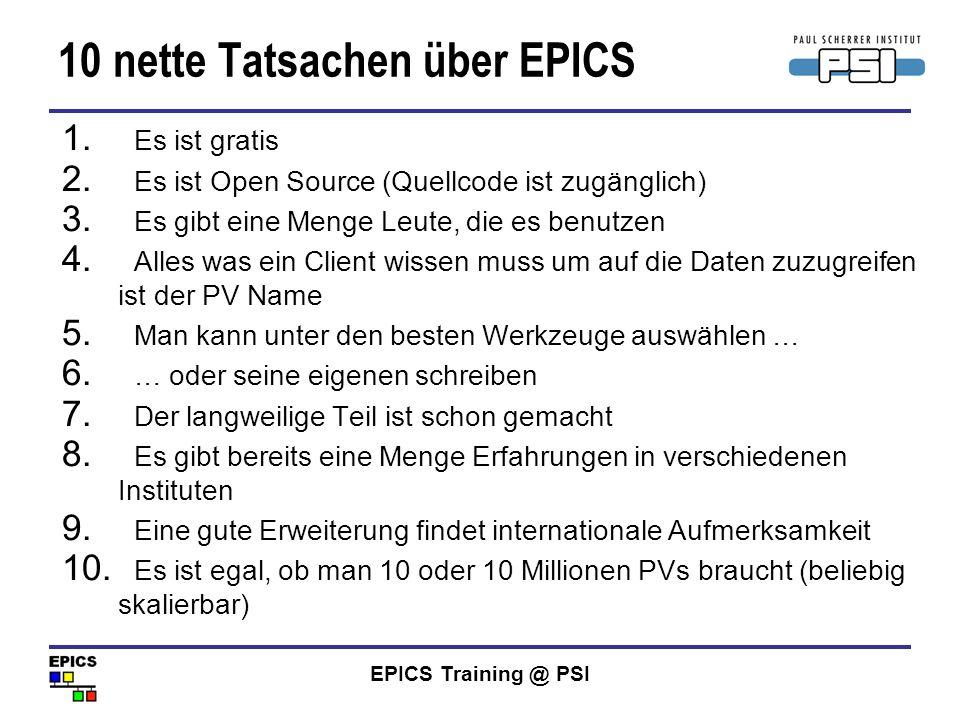 10 nette Tatsachen über EPICS
